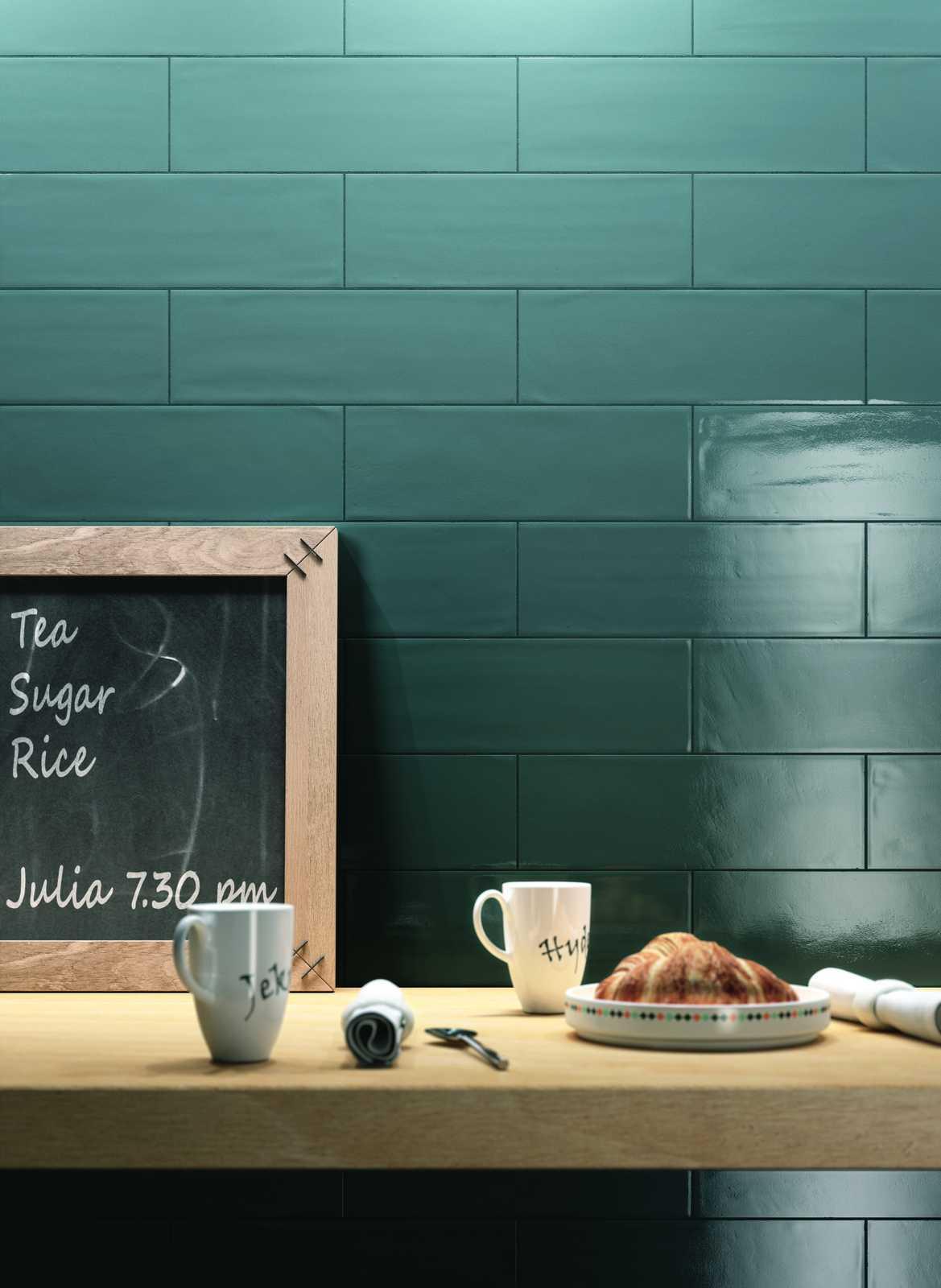 Collezione brick glossy rivestimenti per cucina e bagno for Piastrelle cucina a rombo
