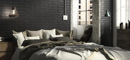 Piastrelle per Camera da letto: Colore Nero | Ragno