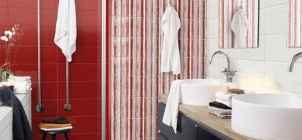 Piastrelle per Bagno: Colore Rosso | Ragno
