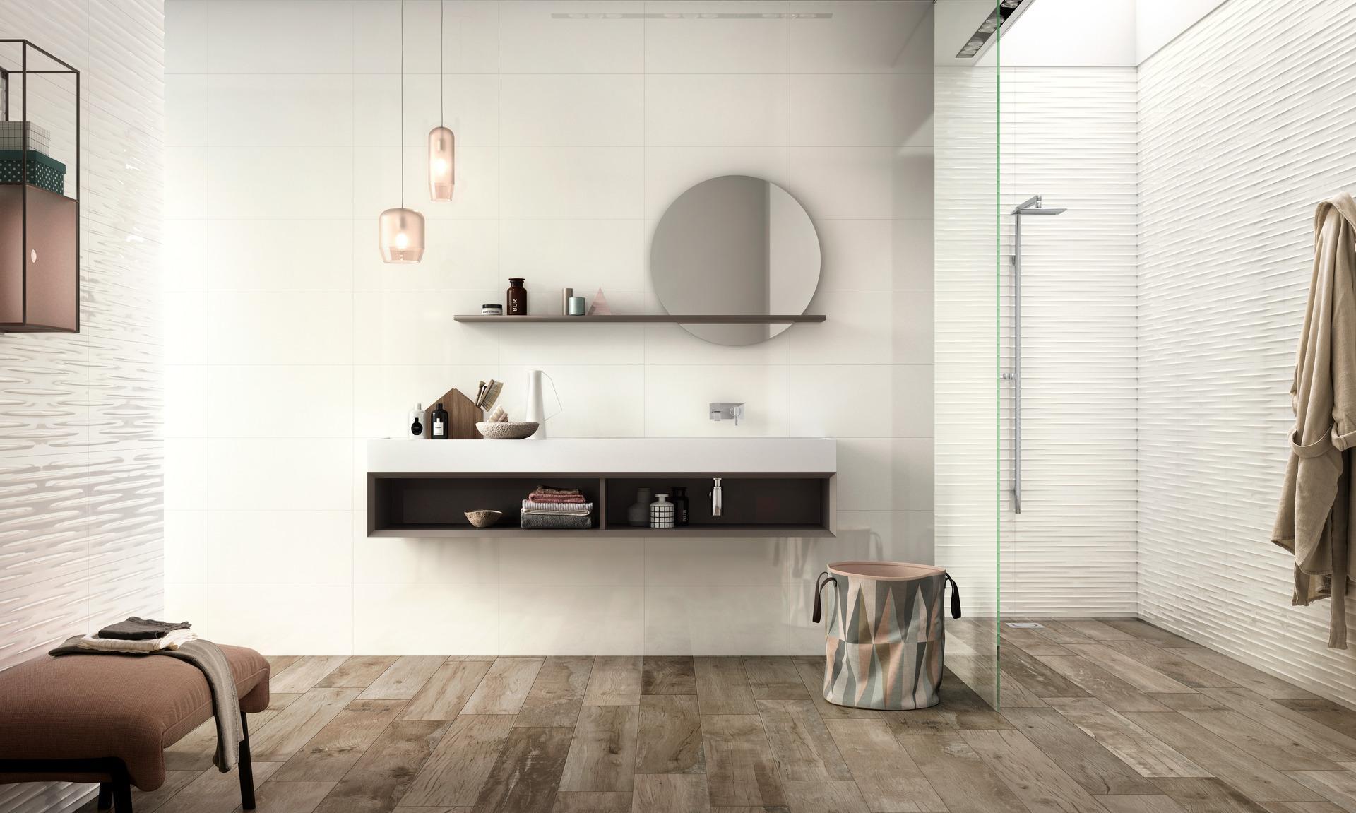 Collezione Fantasy: Rivestimento Bianco per bagno | Ragno