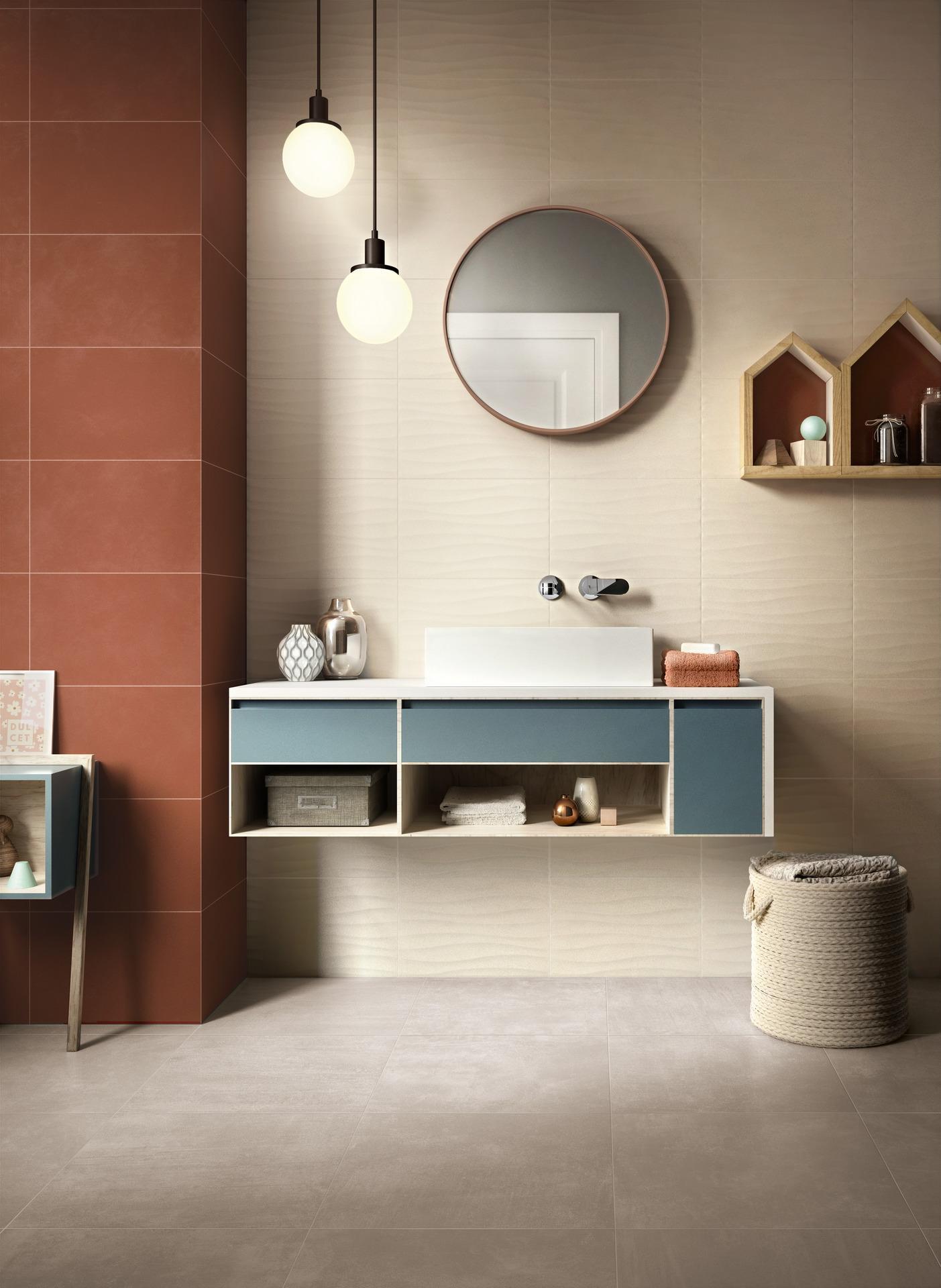 Collezione Feel: Rivestimento opaco per bagno | Ragno