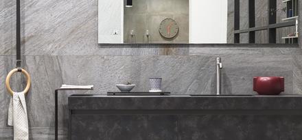 Gres porcellanato effetto pietra per bagno ragno - Bagno effetto pietra ...