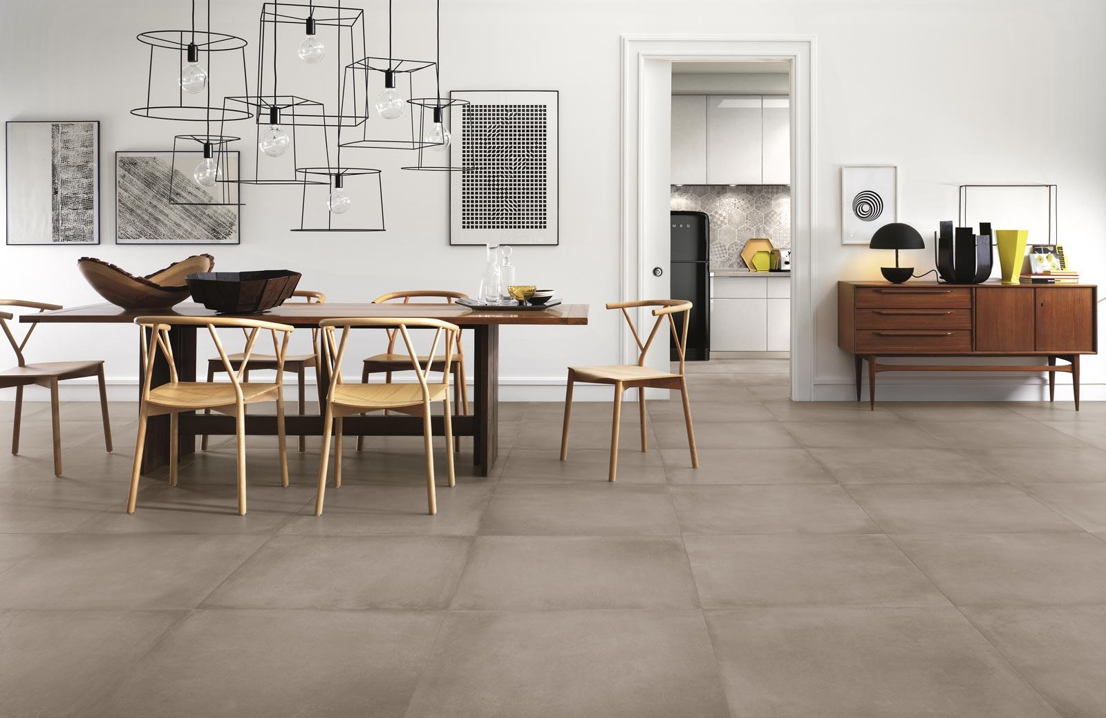 Patchwork cementine piastrelle ceramica stone tech area