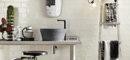 Gres porcellanato effetto cotto e cemento colore marrone - Piastrelle ragno rewind ...