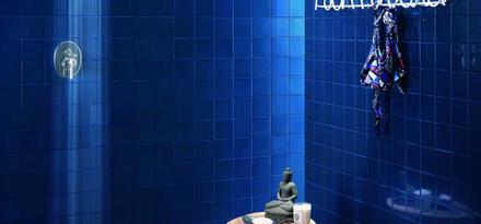 Bagno Con Mattonelle Blu.Piastrelle Per Bagno Colore Blu Ragno