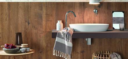 Gres porcellanato effetto legno parquet per bagno ragno - Bagno finto legno ...