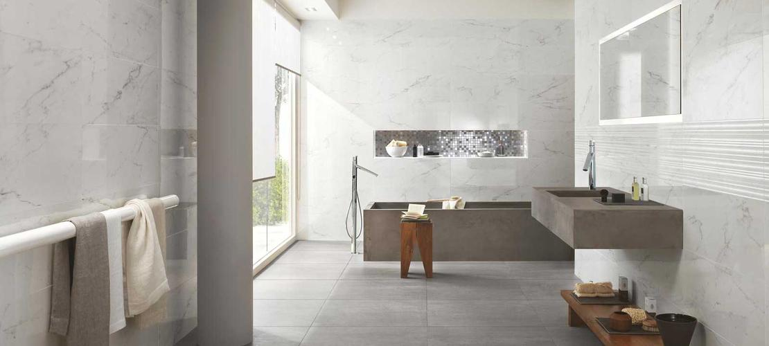 Collezione Daylight: Rivestimenti bagno effetto marmo  Ragno