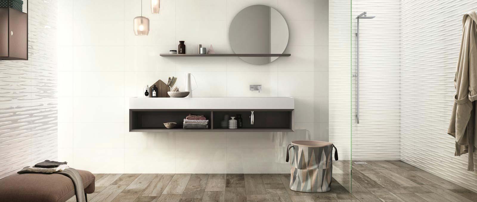 Total White look. L\u0027assoluta perfezione del bianco per le pareti del tuo  bagno
