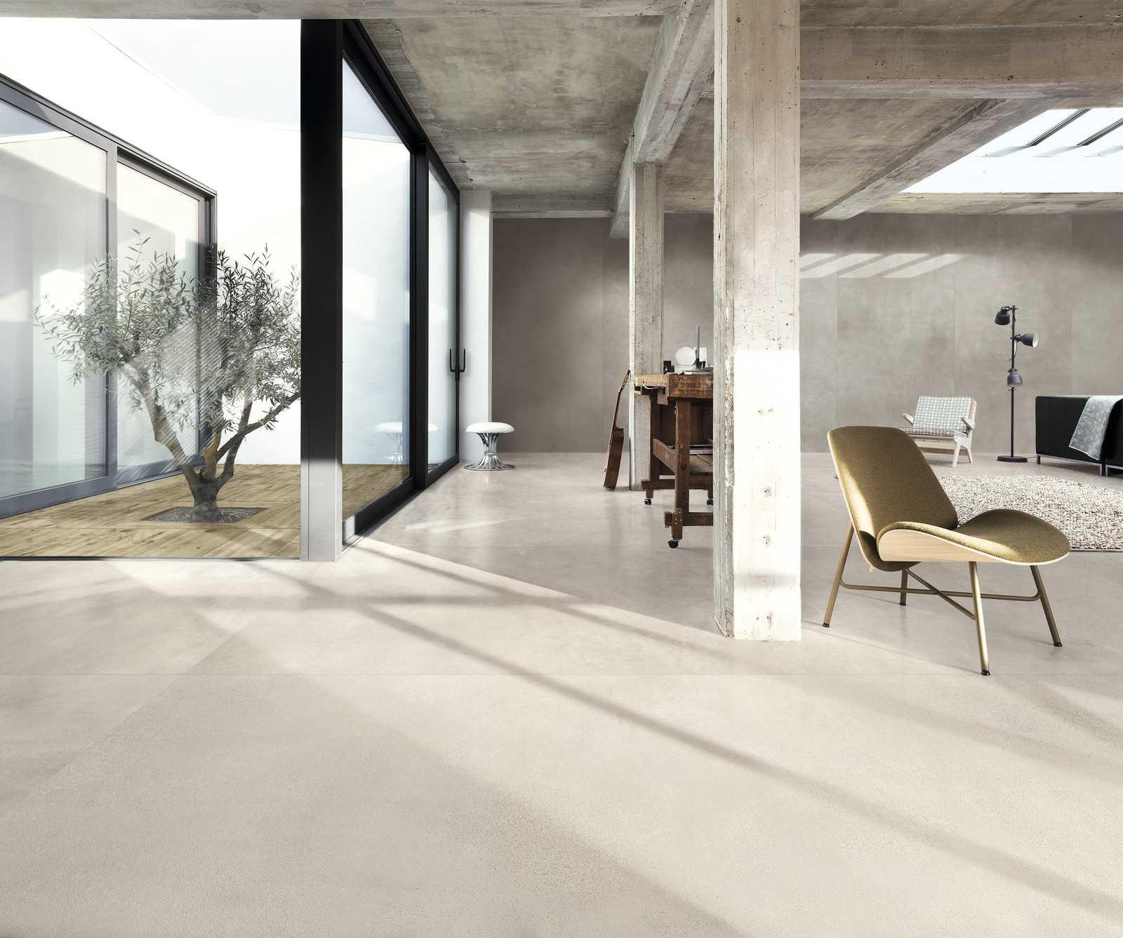 Soggiorno Con Pietra A Vista soggiorno moderno con le piastrelle in gres | ragno