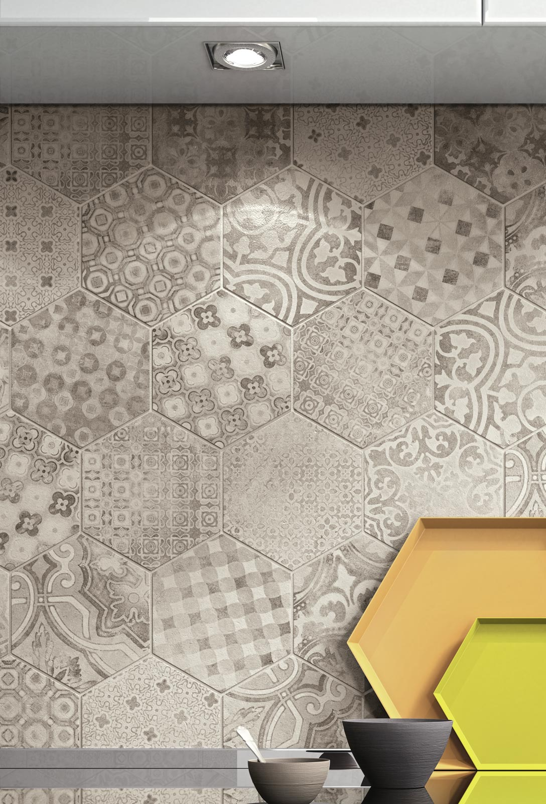 Piastrelle esagonali per decorare casa ragno - Decorare le piastrelle ...