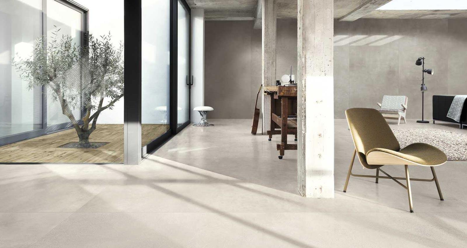 Come Piastrellare Un Pavimento soggiorno moderno con le piastrelle in gres | ragno