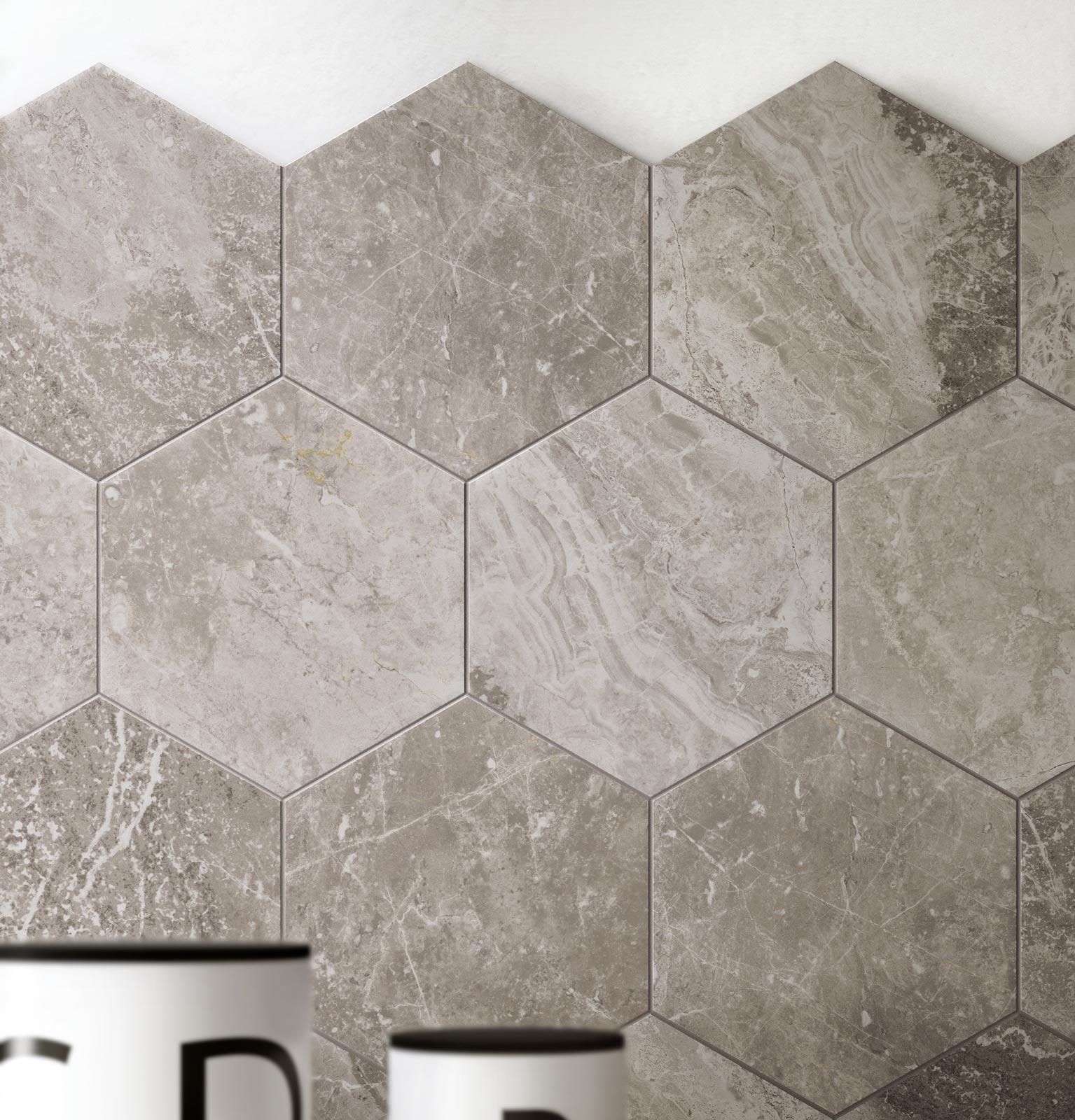 Piastrelle esagonali per decorare casa ragno - Piastrelle in marmo ...