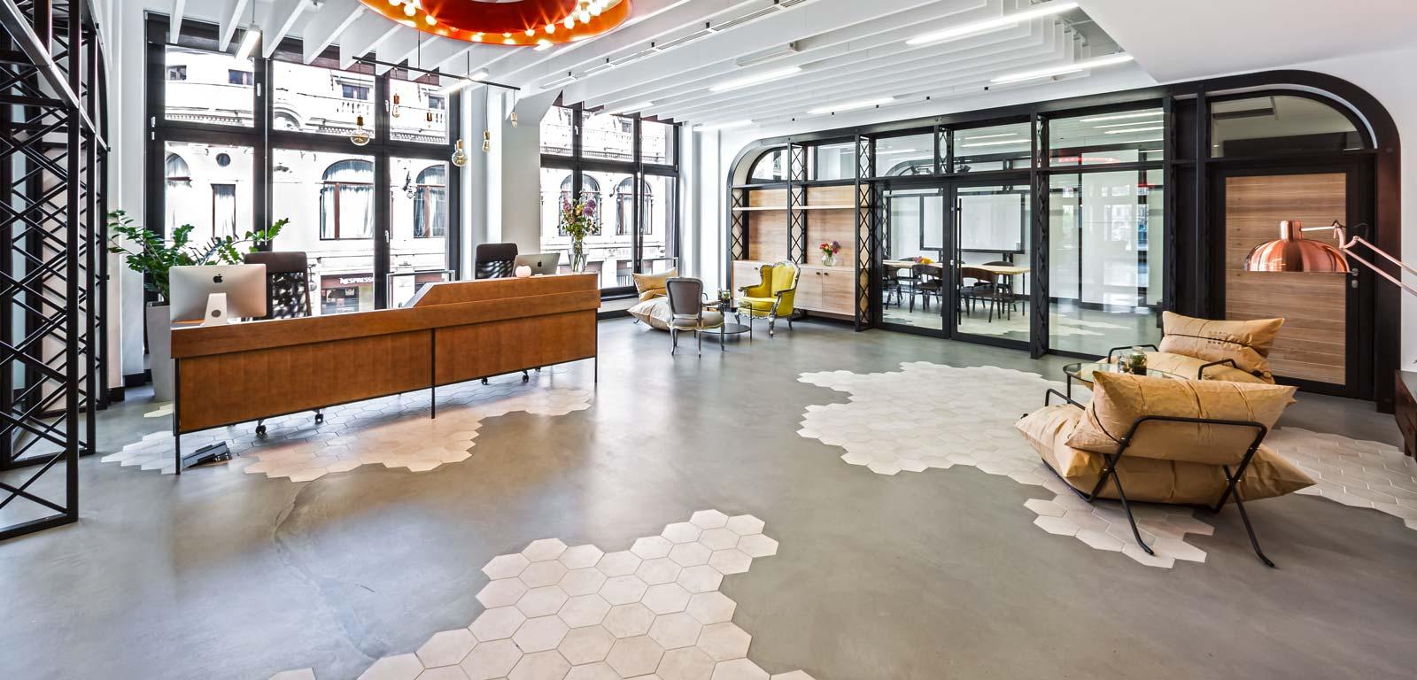 Design industriale cementine esagonali rewind ragno for Ufficio design industriale