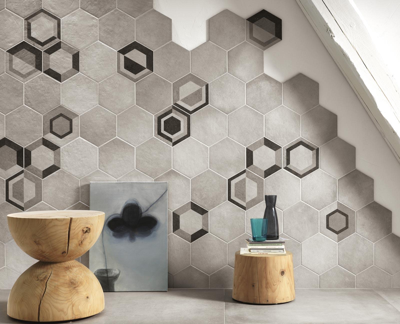 Piastrelle esagonali per decorare casa ragno