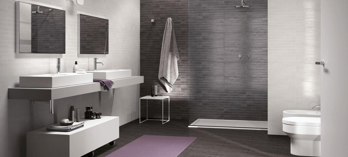 Bagno con pavimento grigio scuro: i vostri bagni página vivere ...