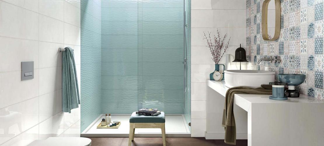 Pin Piastrelle E Mattonelle Bagni Raffinate Di Design E Trendy on ...