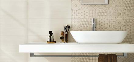 Collezione Line: Rivestimenti in pasta bianca per bagno | Ragno