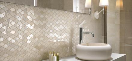 gres porcellanato effetto marmo per bagno ragno