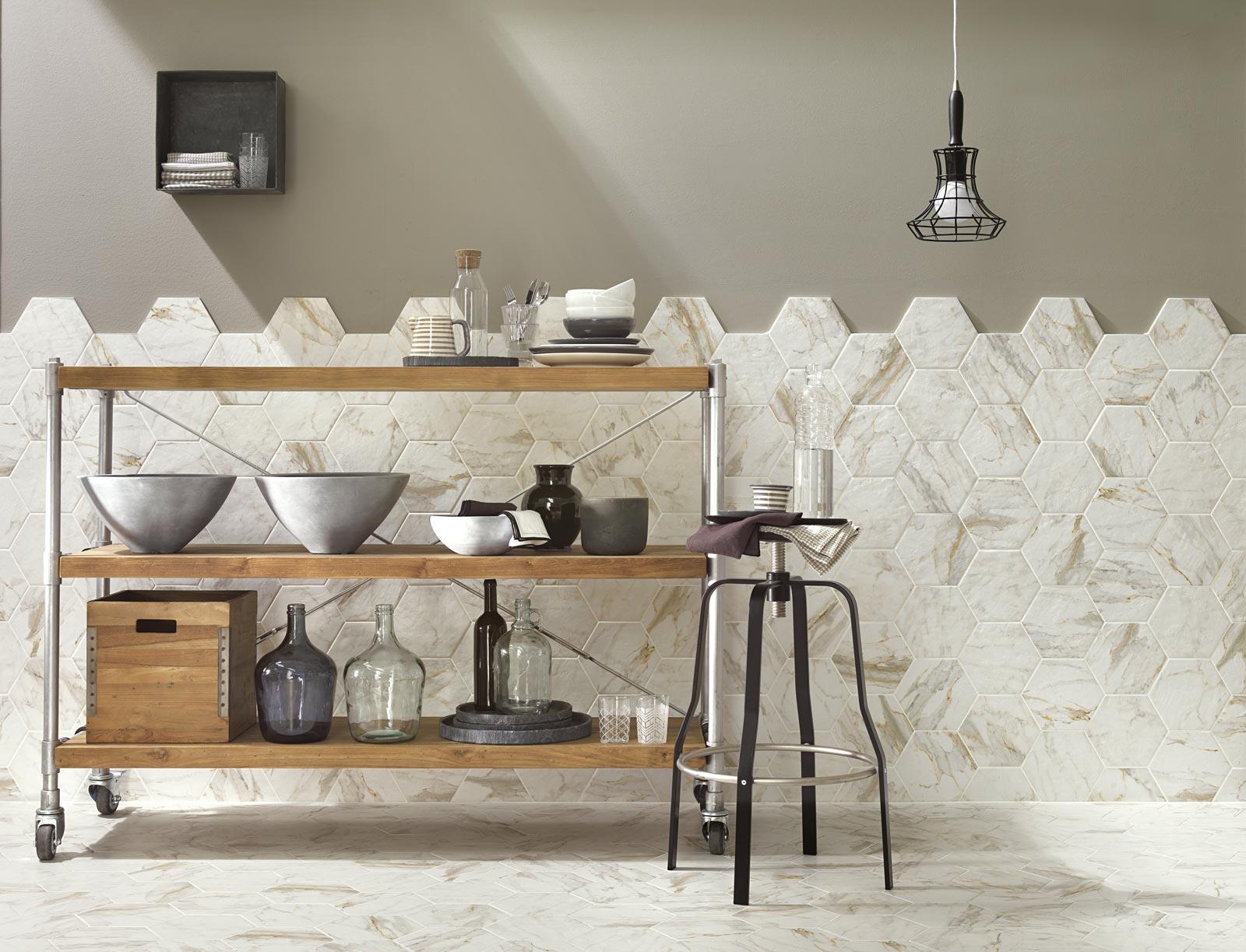 Piastrelle Cucina Gres Porcellanato : Mattonelle cucina gres ...