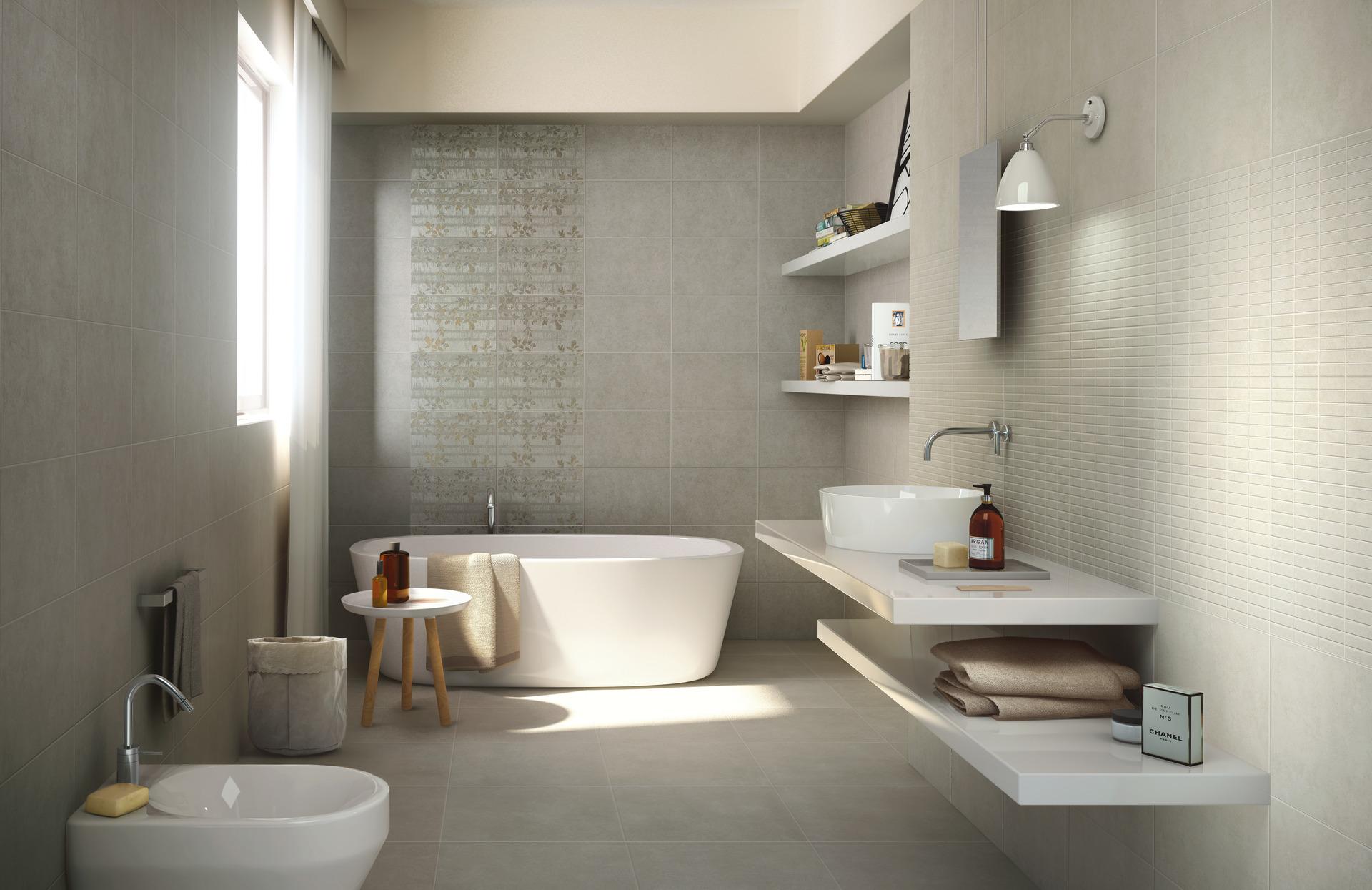 Collezione casablanca ceramica per bagno e cucina ragno - Piastrelle grigie bagno ...