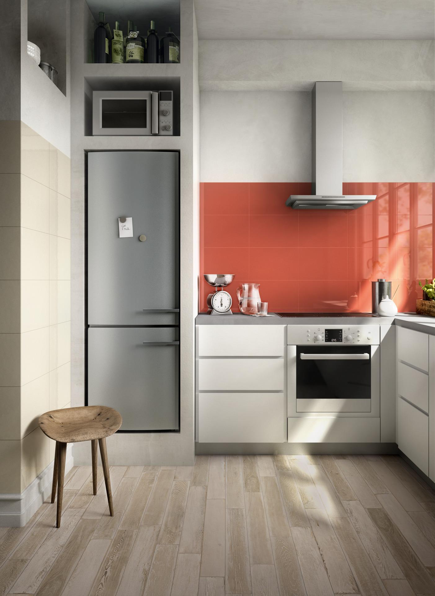 Piastrelle cucina versatilit ed eleganza ragno - Piastrelle cucina rosse ...