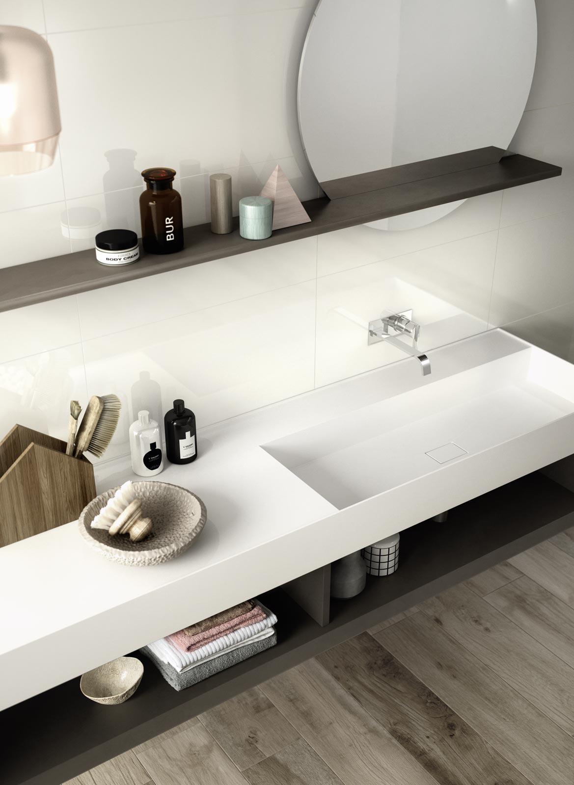 Collezione fantasy rivestimento bianco per bagno ragno - Rivestimento bagno bianco ...