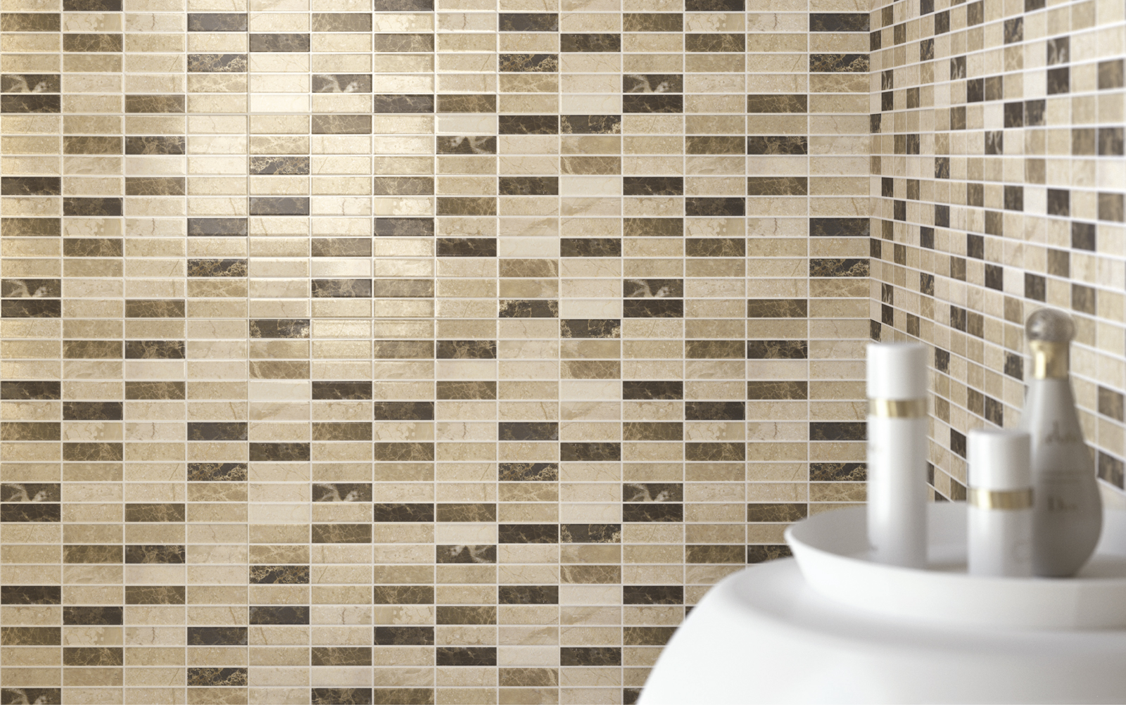 Collezione game mosaici di ceramica per bagno e cucina for Piastrelle bagno mosaico grigio