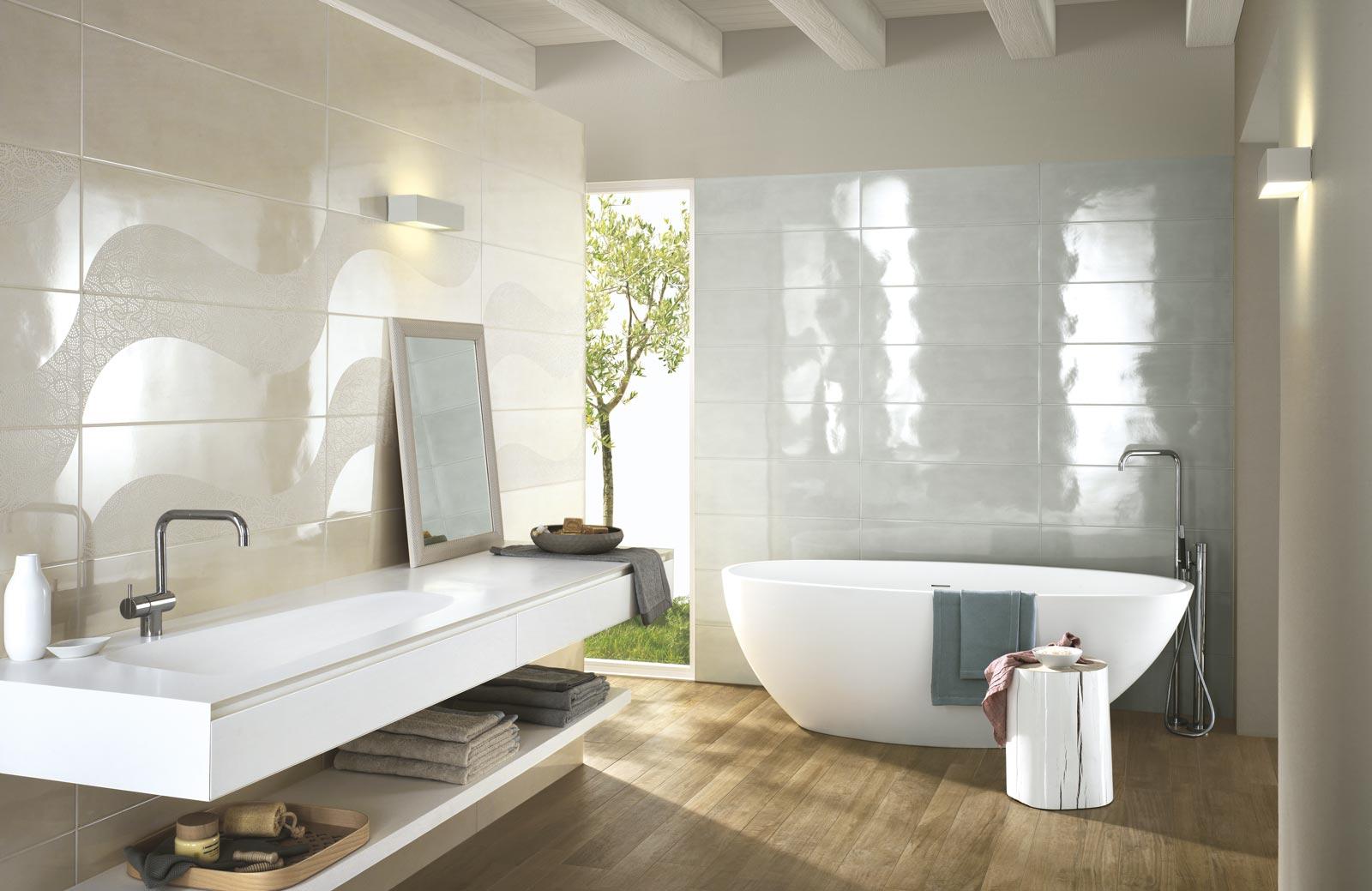 Collezione handmade rivestimenti bagno effetto lucido ragno - Design bagno piastrelle ...