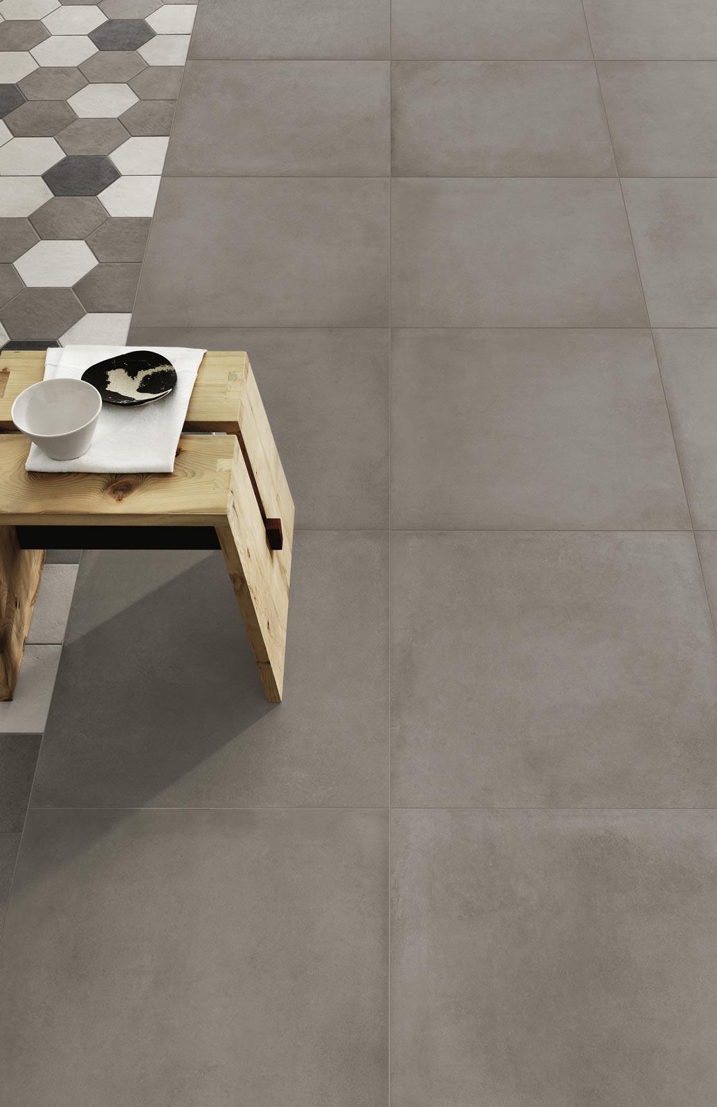 Collezione rewind gres porcellanato effetto cemento ragno - Rimuovere cemento da piastrelle ...