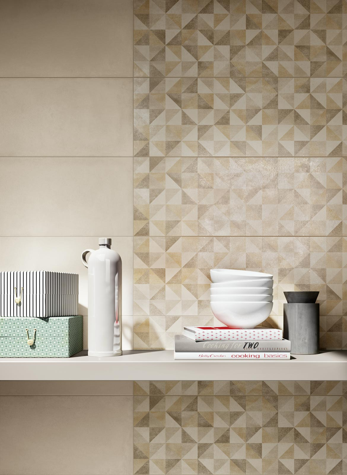Collezione rewind wall piastrelle di ceramica effetto - Posa rivestimento bagno ...