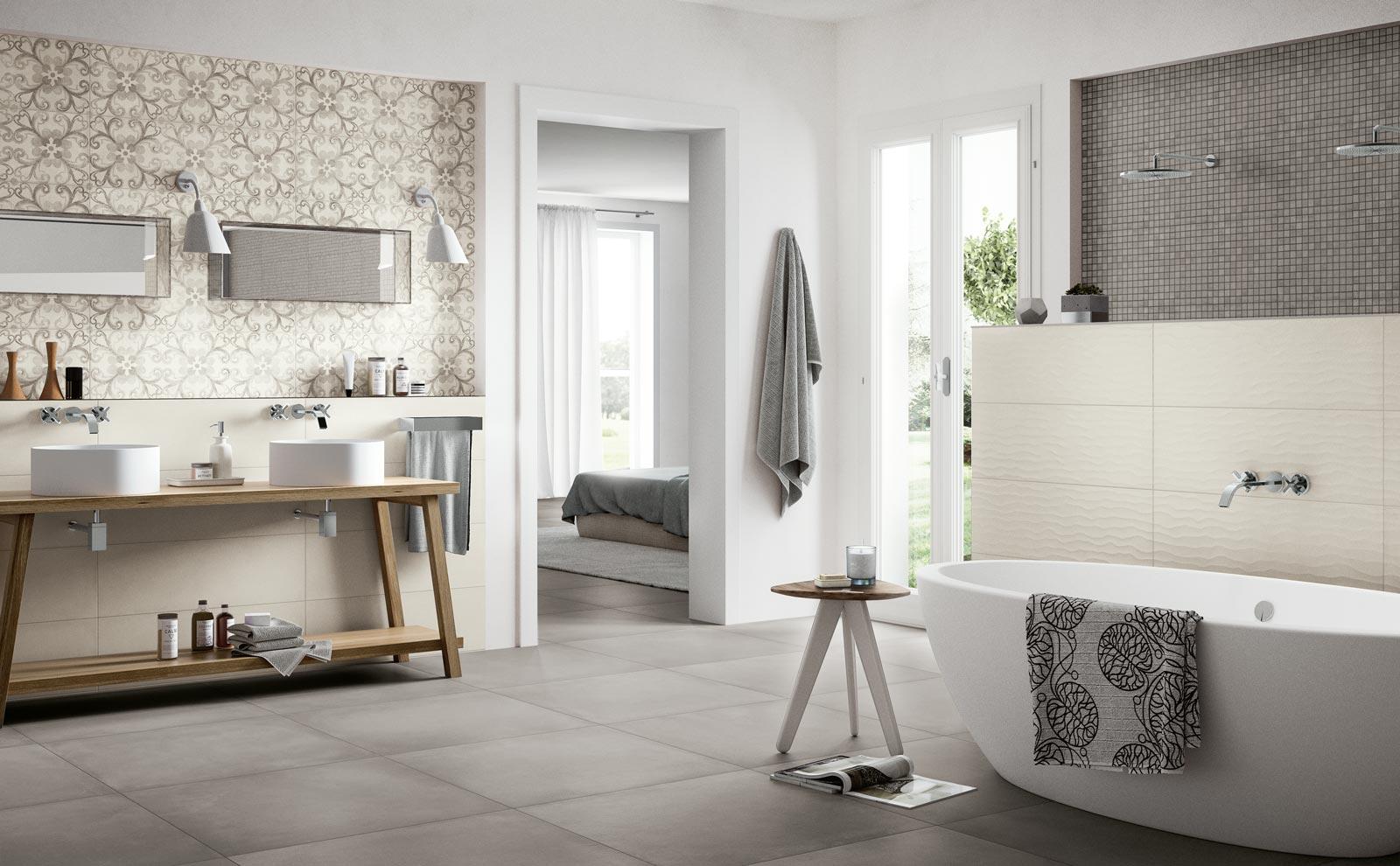 Collezione rewind wall piastrelle di ceramica effetto cotto e cemento ragno - Ragno rivestimenti bagno ...