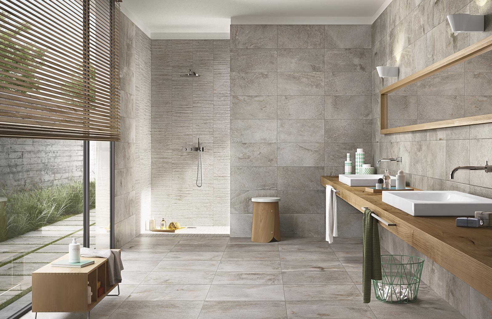 Piastrelle grandi formati per bagno: pavimenti e rivestimenti di