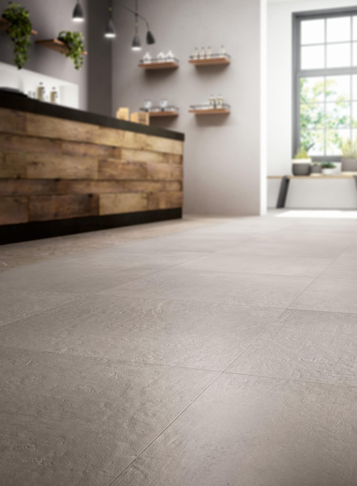 Piastrelle effetto cotto e cemento per interni ed esterni - Piastrelle effetto cemento ...
