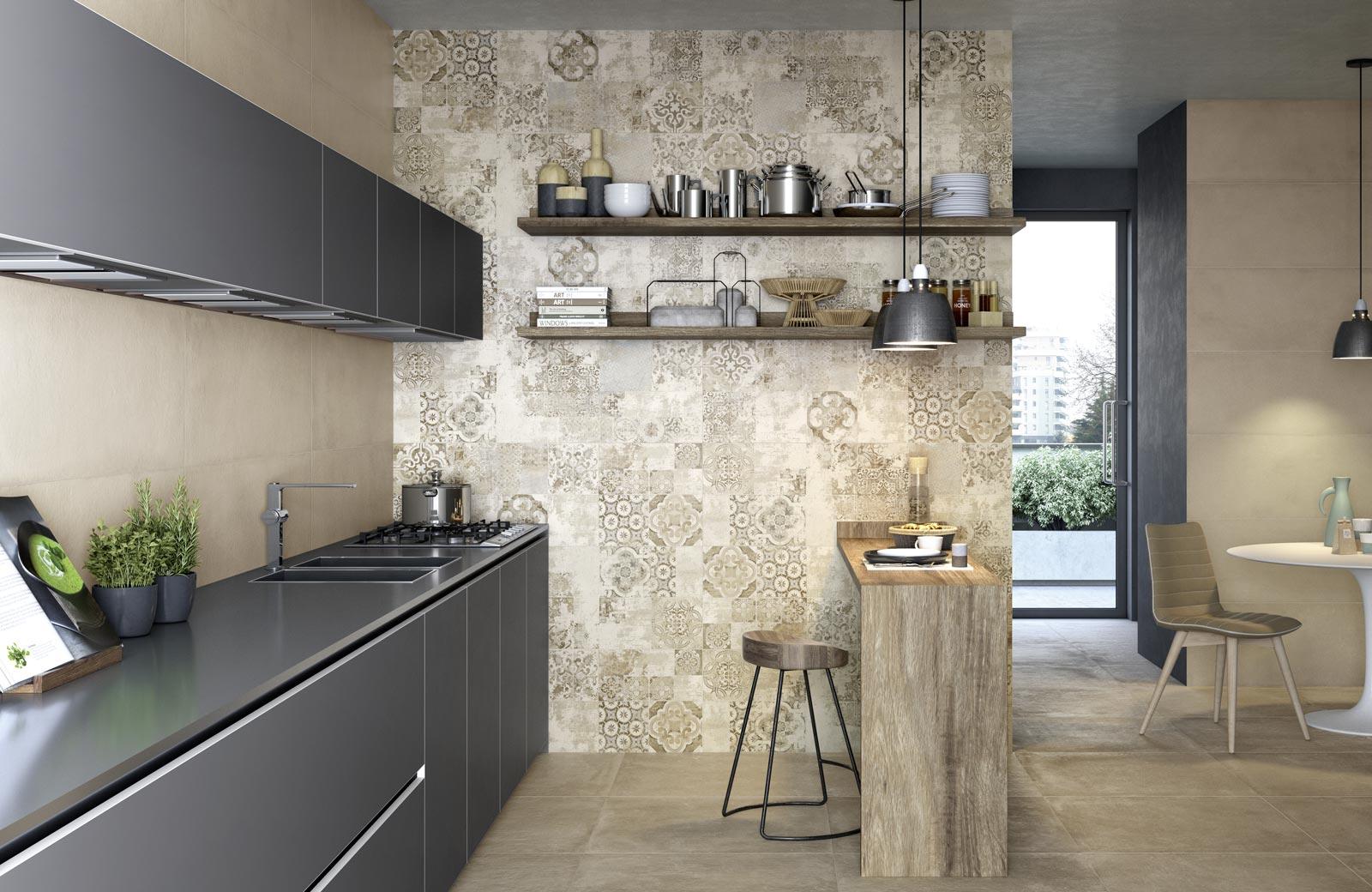 collezione terracruda rivestimento effetto cemento ragno. Black Bedroom Furniture Sets. Home Design Ideas