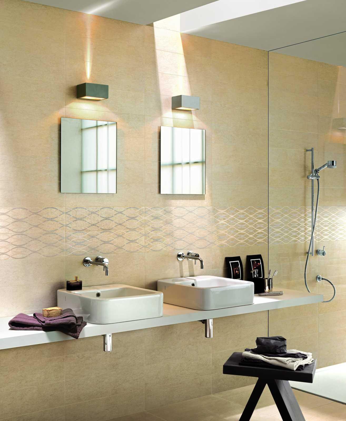 Collezione touch rivestimento effetto pietra naturale ragno - Design bagno piastrelle ...