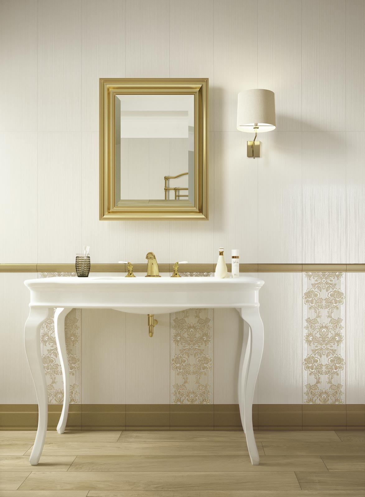Collezione Wallpaper: Rivestimenti classici per il bagno  Ragno