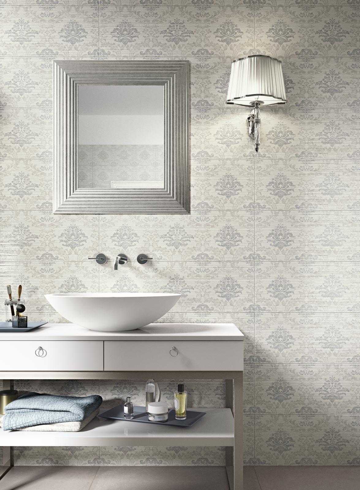 Collezione wallpaper rivestimenti classici per il bagno ragno - Piastrelle ceramica bagno ...