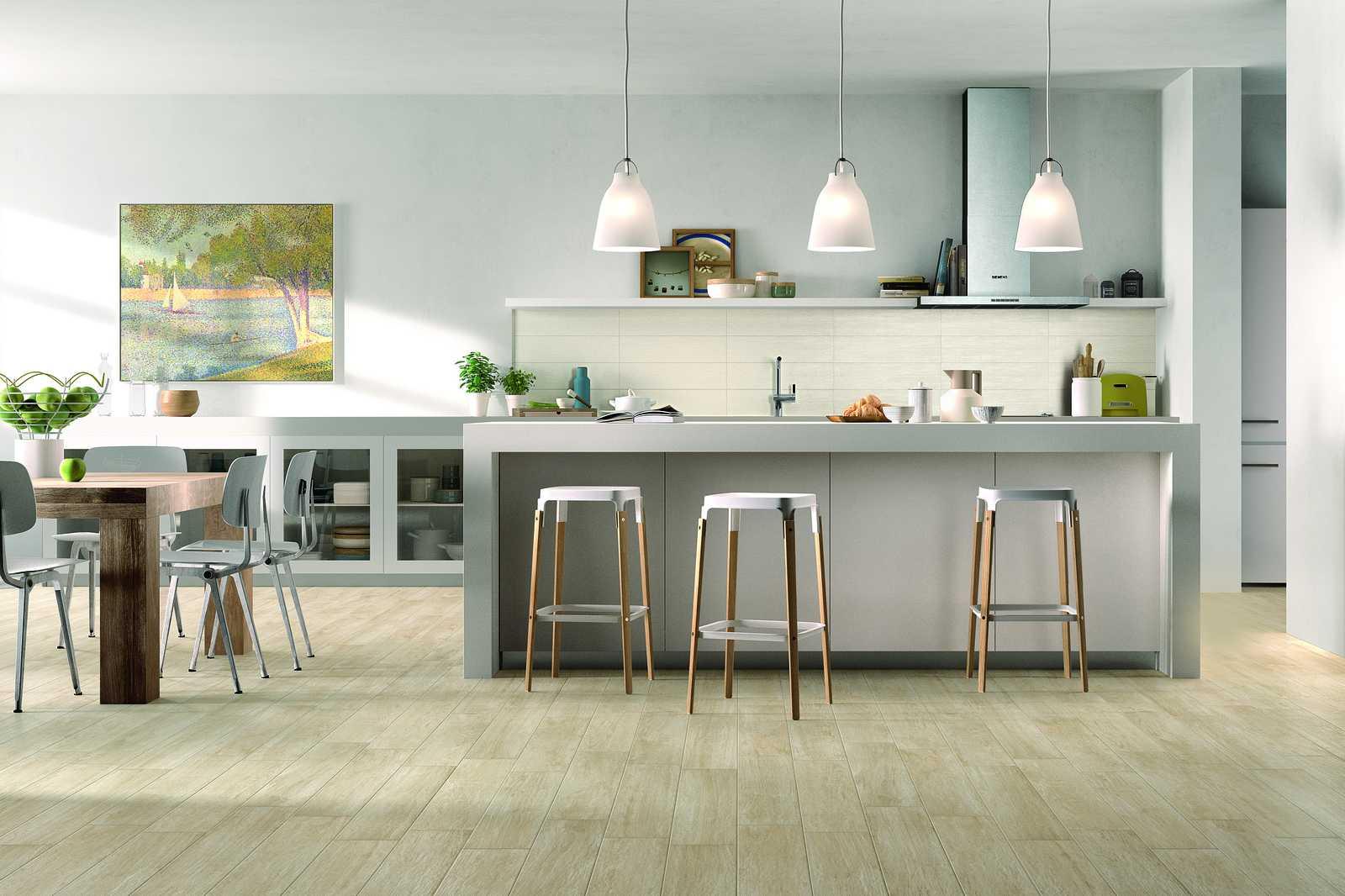 Collezione woodcomfort pavimenti in gres effetto legno for Pavimenti per cucina e soggiorno