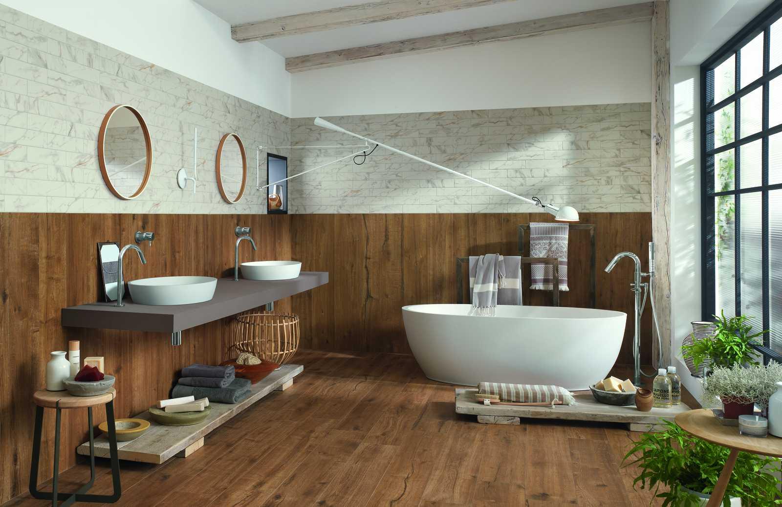 Collezione woodtale pavimenti in gres effetto legno ragno - Piastrelle finto legno ...