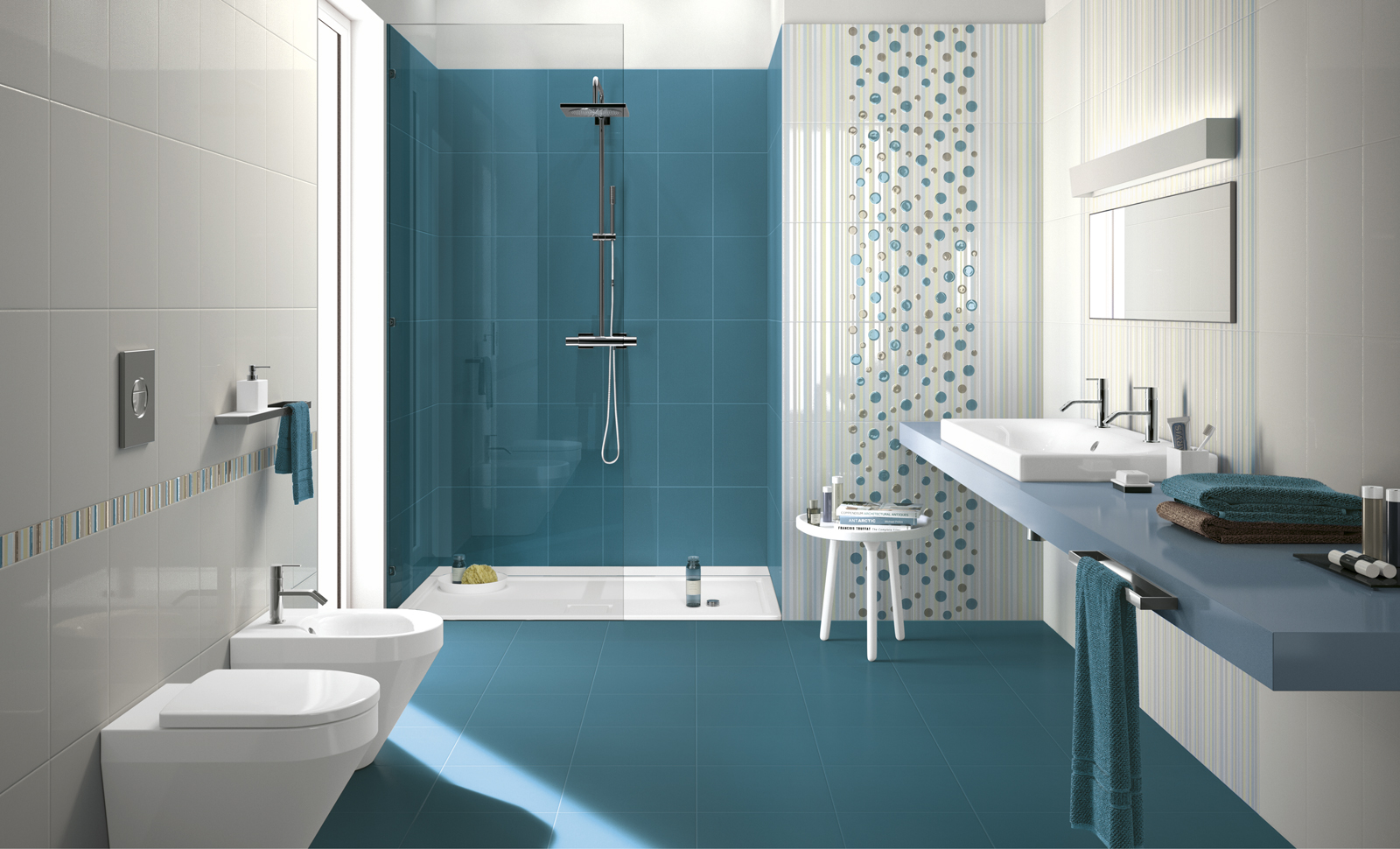 Aqua Blue Bathroom Tiles