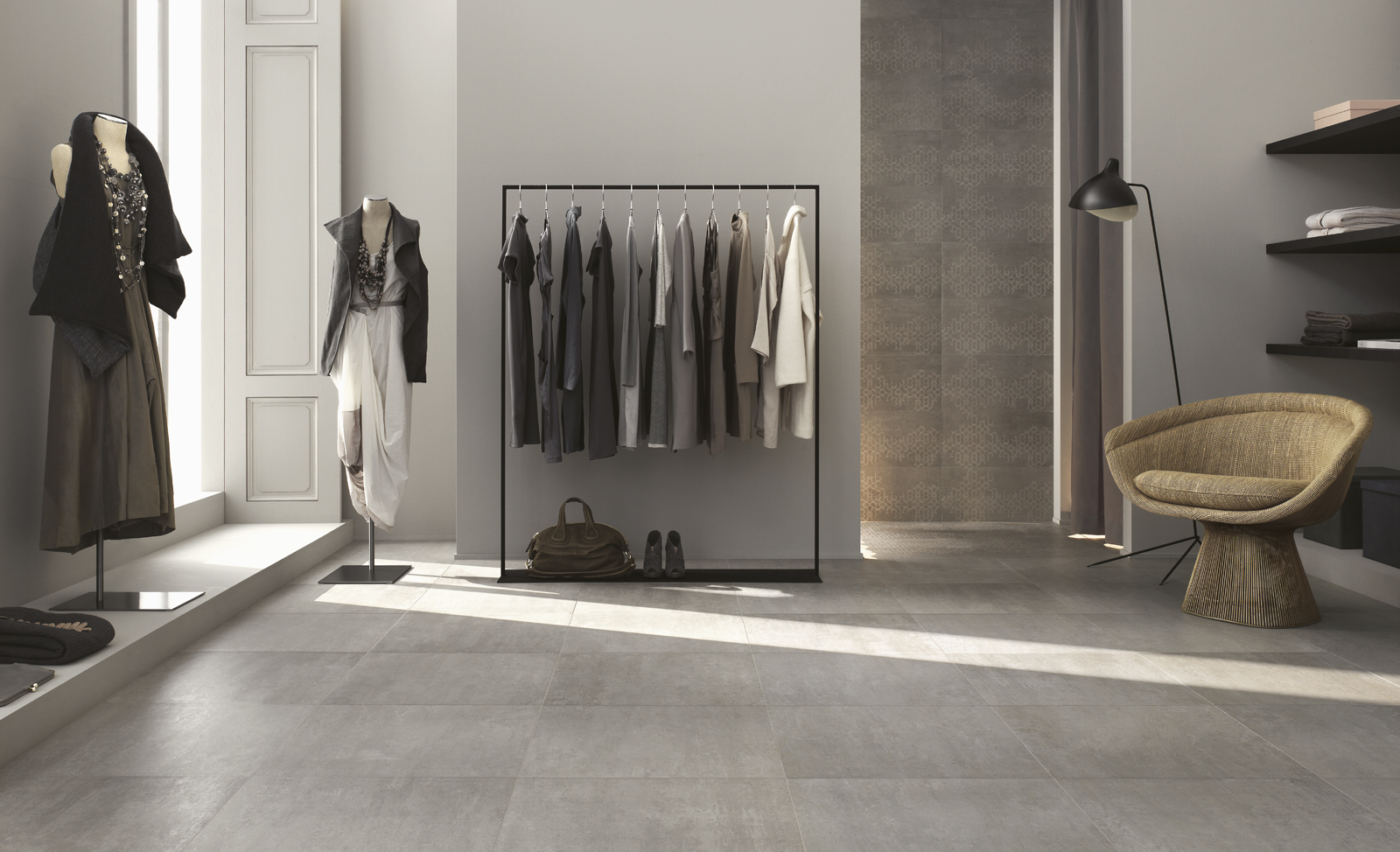 Concept porcelain stoneware for contemporary flooring for Carrelage interieur 60x60 beige
