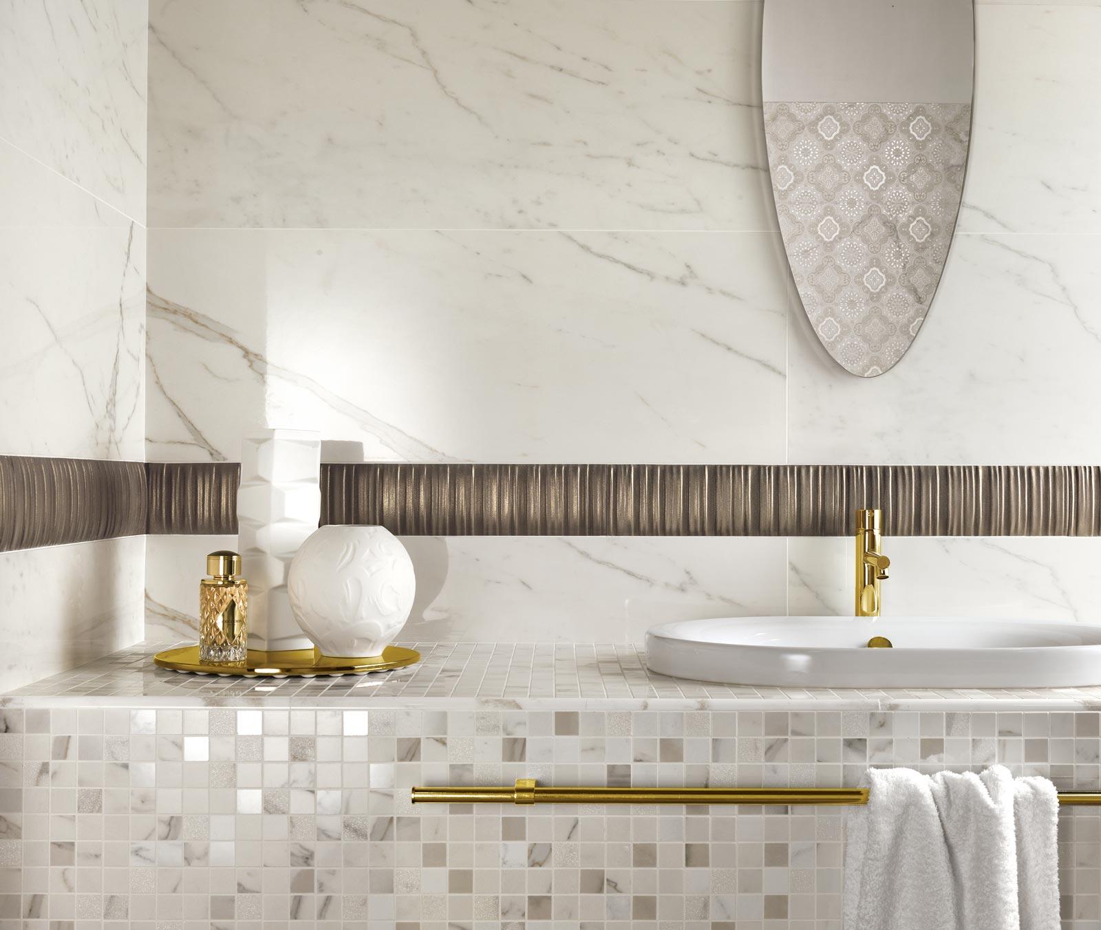 Estremamente Collezione Daylight: Rivestimenti bagno effetto marmo | Ragno FH51