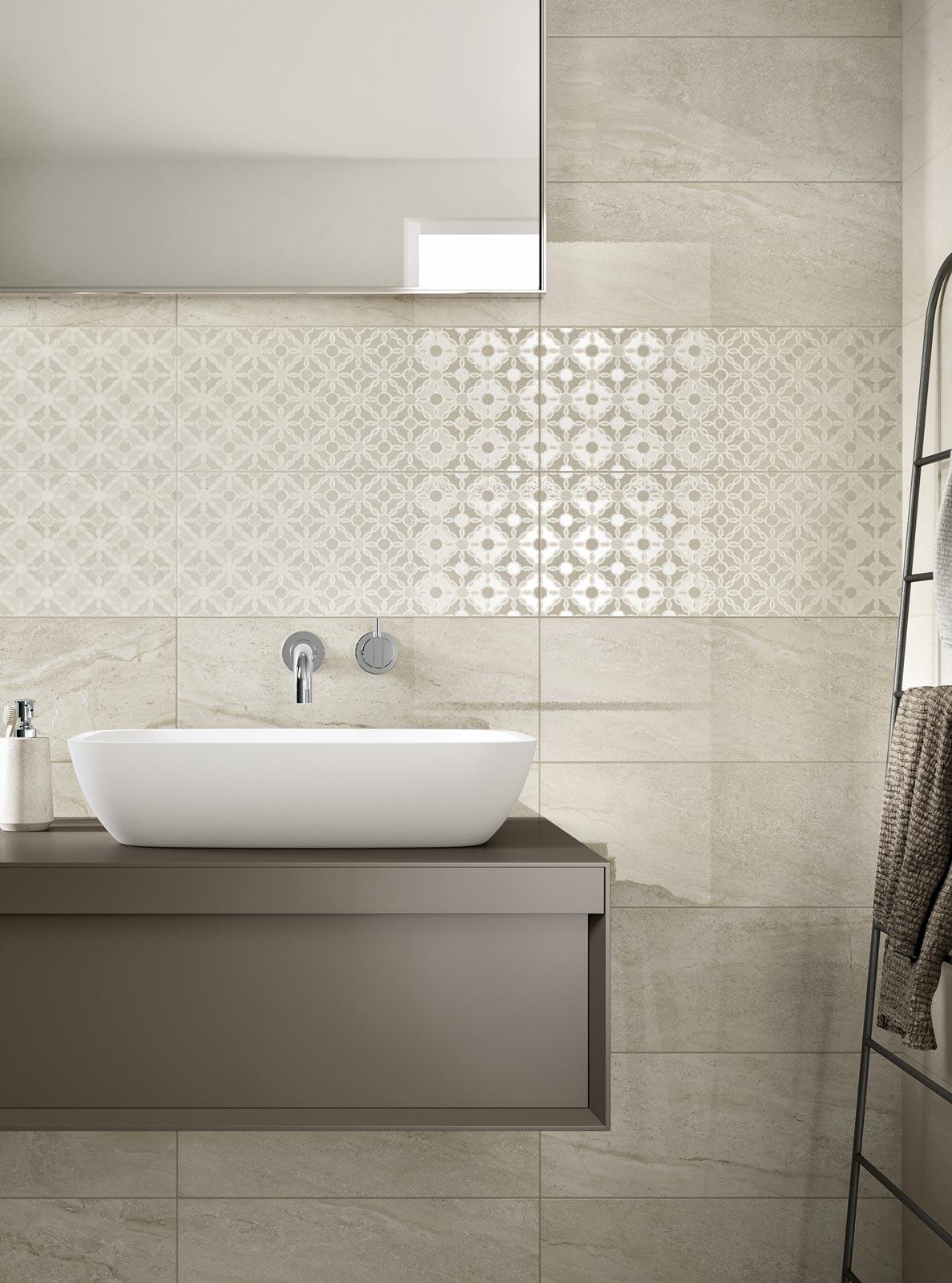 Collezione grace piastrelle in ceramica per il tuo bagno ragno - Bucare piastrelle bagno ...