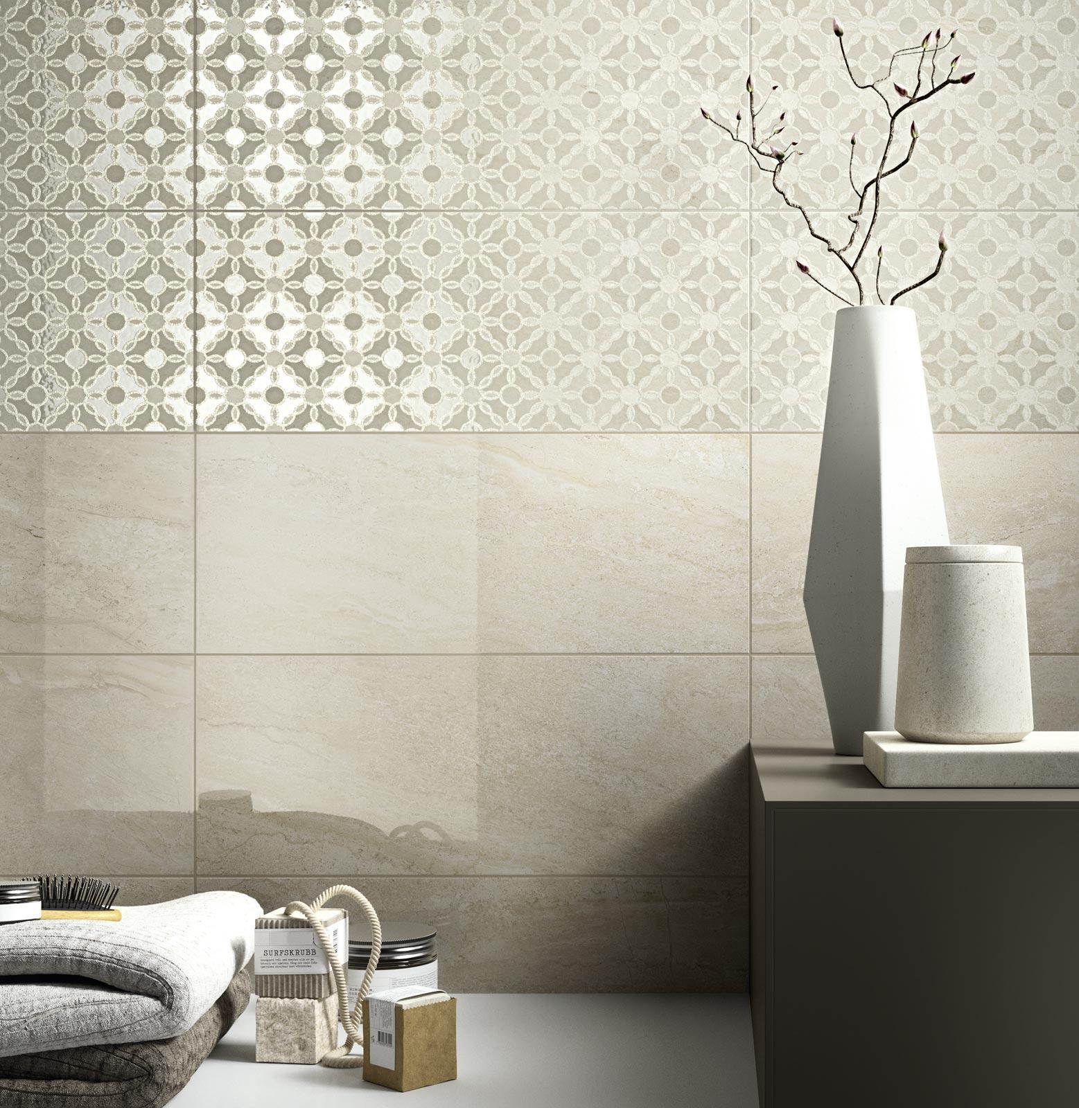 Collezione grace piastrelle in ceramica per il tuo bagno for Piastrelle bagno mosaico grigio