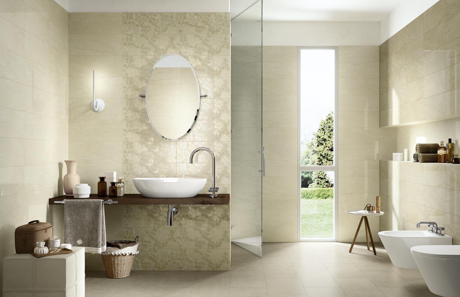 Collezione grace piastrelle in ceramica per il tuo bagno for Carrelage urban ivory