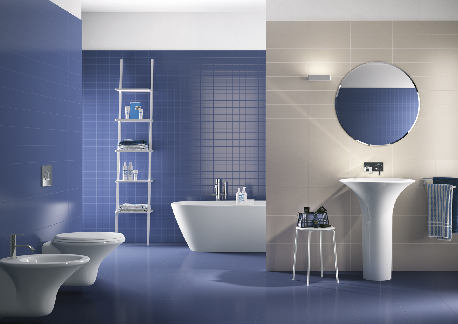 Colours - coloured wall tiles for bathrooms