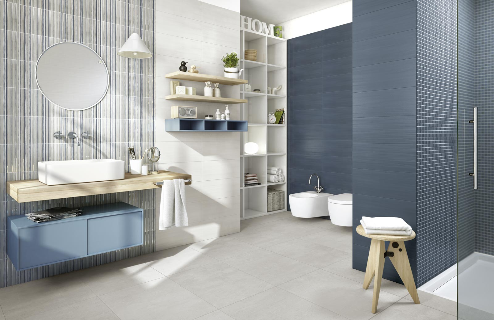 Piastrelle bagno in gres porcellanato ragno - Ceramiche bagno moderno ...