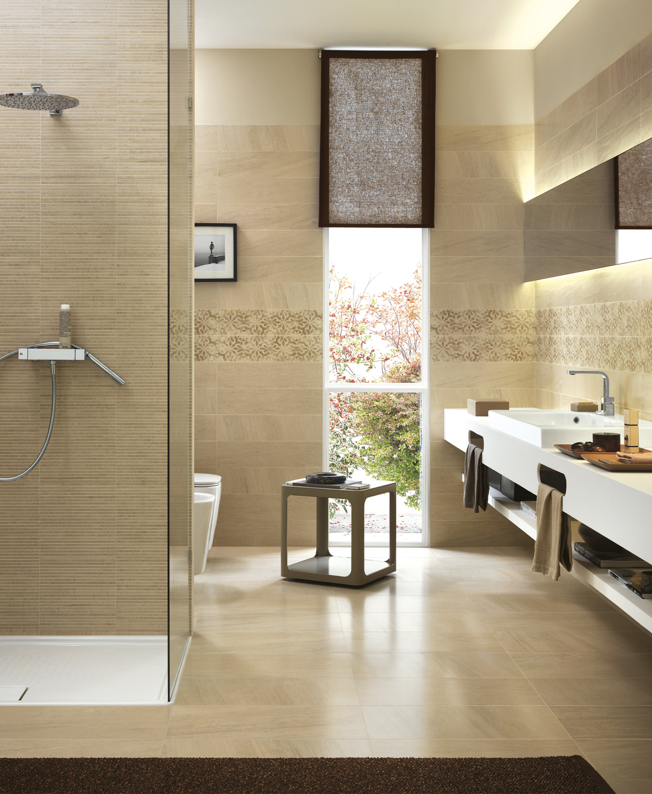 Collezione lifestyle gres porcellanato effetto pietra ragno - Piastrelle pietra bagno ...