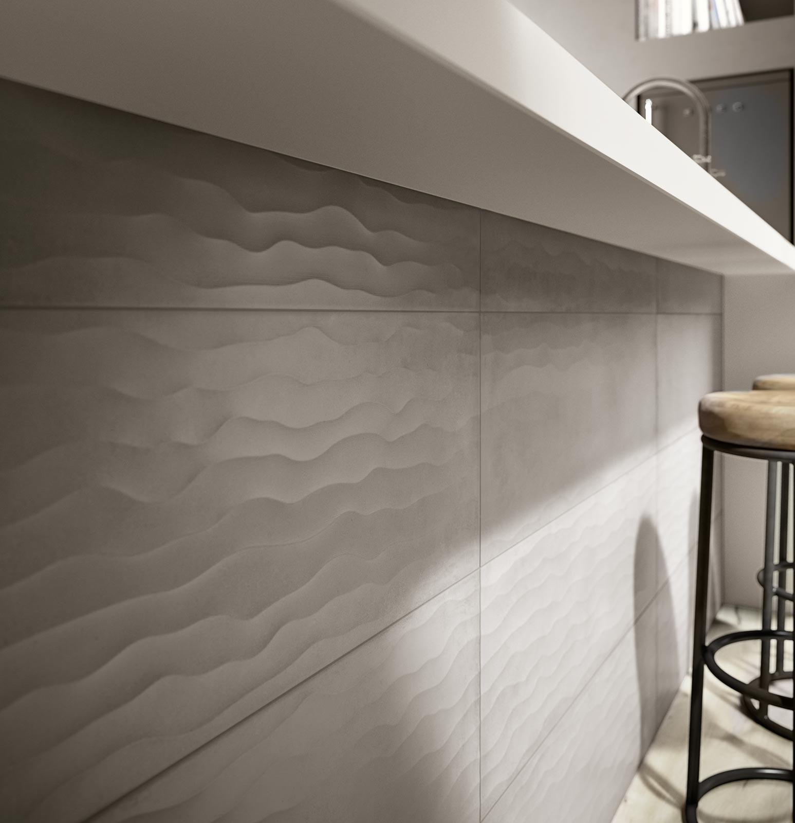 ... Rewind wall: piastrelle di ceramica effetto cotto e cemento : Ragno