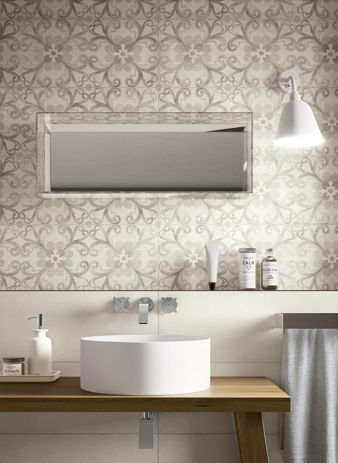 Piastrelle bagno in gres porcellanato ragno - Decori piastrelle bagno ...